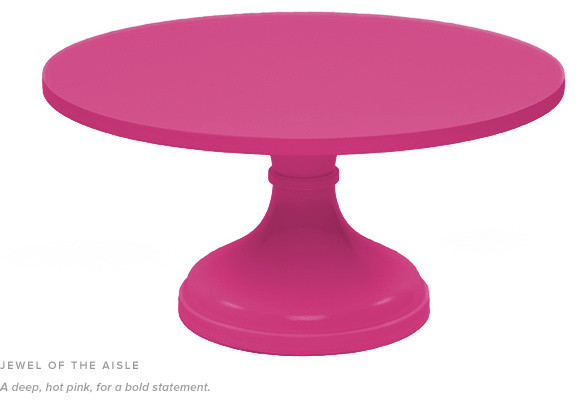 ... Hot Pink Round Cake Stand 14\  diameter 8\  ...  sc 1 st  Whisk Cake Company & Rentals